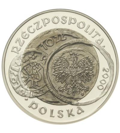 10 złotych 2000, 1000 lecie zjazdu w Gnieźnie. GCN PR70