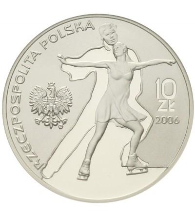 Poland 10 zlotych 2006, Winter Olympics Turyn 2006. GCN PR70
