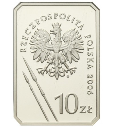 10 złotych 2006, Jeździec Piastowski. GCN PR70