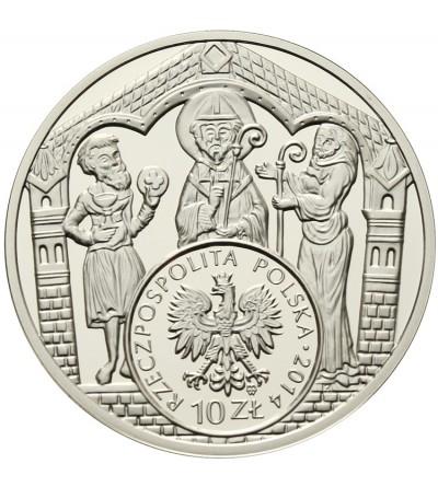 10 złotych 2014, Brakteat Mieszka III Starego