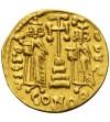 Bizancjum - Konstantyn IV . Solid bity około 674-681