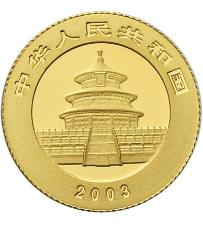 Chiny 20 yuanów 2003. Panda