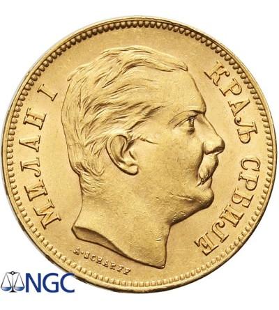 Serbia 20 dinara 1882. NGC MS 62
