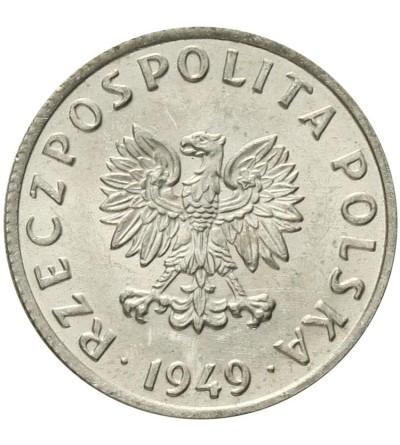 5 groszy 1949, aluminium