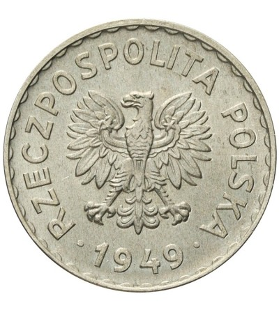 1 złoty 1949, aluminium