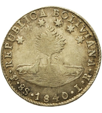 Boliwia 8 soles 1840 LR
