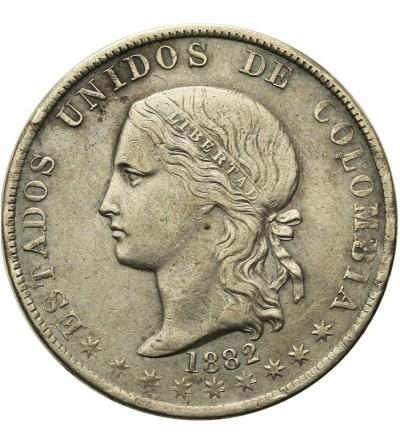 Kolumbia 5 decimos 1882, Medellin