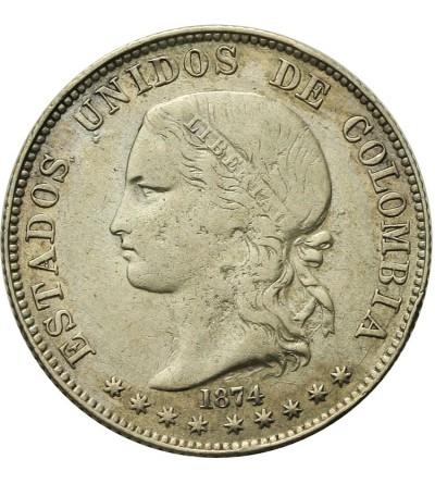 Columbia 5 Decimos 1874, Medellin