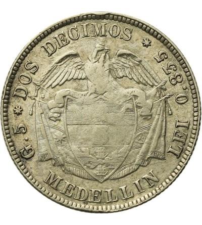 Kolumbia 5 decimos 1874, Medellin