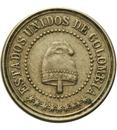 Columbia 2 1/2 Centavos 1881 W