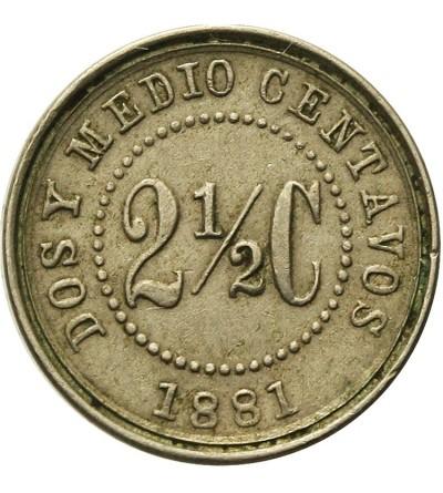 Kolumbia 2 1/2 centavos 1881 W