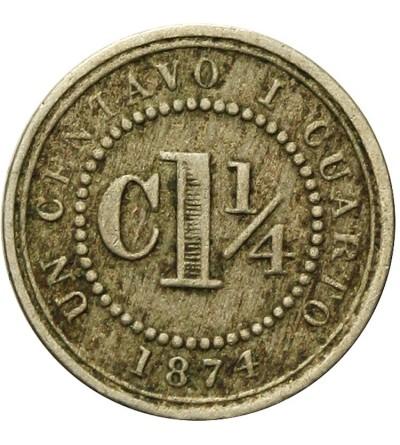 Kolumbia 1 1/4 centavos 1874
