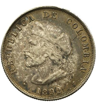 Columbia 50 Centavos 1892