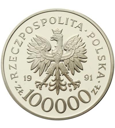 """100000 złotych 1991, mjr Henryk Dobrzański """"Hubal"""""""