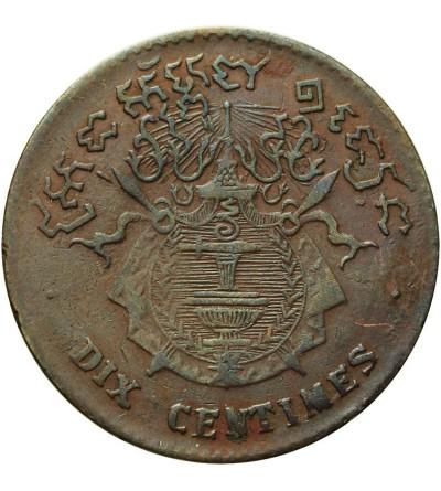 Cambodia 10 Centimes 1860