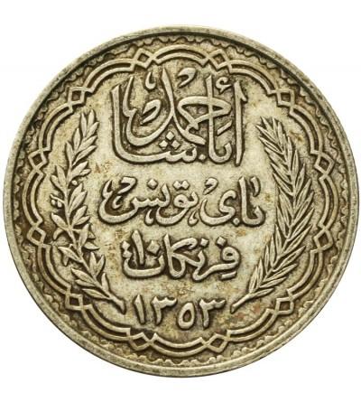 Tunezja 10 franków 1353 AH / 1934 AD