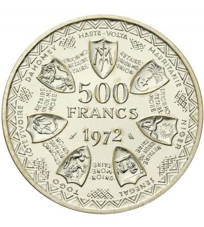 Francuska Afryka Zachodnia 500 franków 1972