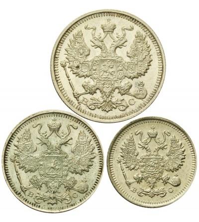 Rosja 10, 15, 20 kopiejek 1915