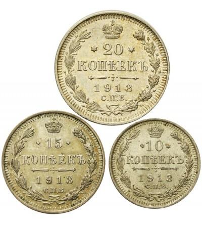 10, 15, 20 kopiejek 1913