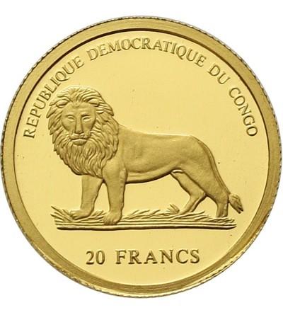 Congo 20 francs 2003. Porcupine