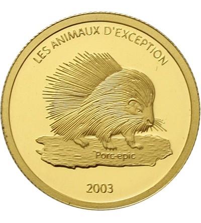 Kongo 20 franków 2003. Jeżozwierz