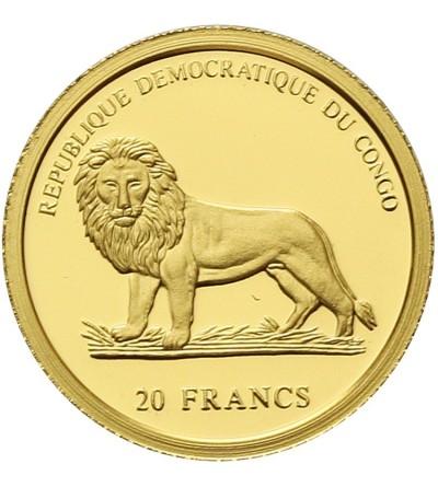 Congo 20 francs 2003. Chameleon