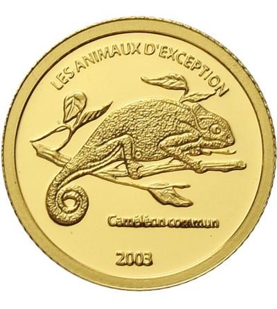 Kongo 20 franków 2003. Kameleon