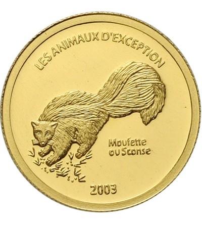 Kongo 20 franków 2003. Skunks