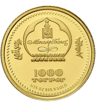 Mongolia 1000 tugrików 2006. Łabędź