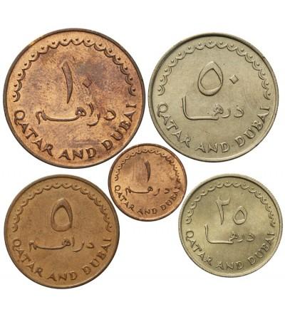 Katar i Dubai 1, 5, 10, 25, 50 dirhemów 1386 AH / 1966 AD