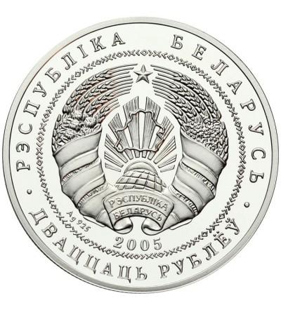 Białoruś 20 rubli 2005, Kościół Farny w Nieświeżu