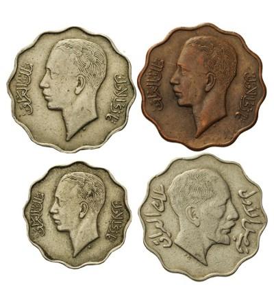 Irak 4 i 10 fils 1931-1938, zestaw 4 sztuki