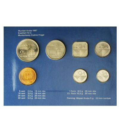 Aruba Zestaw menniczy monet 1987