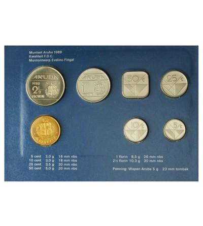 Aruba Zestaw menniczy monet 1988