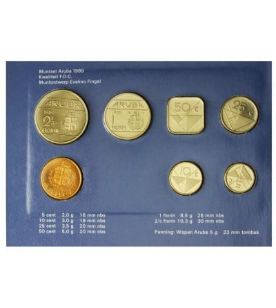 Aruba Zestaw menniczy monet 1989