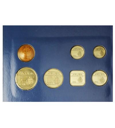 Aruba Zestaw menniczy monet 1990
