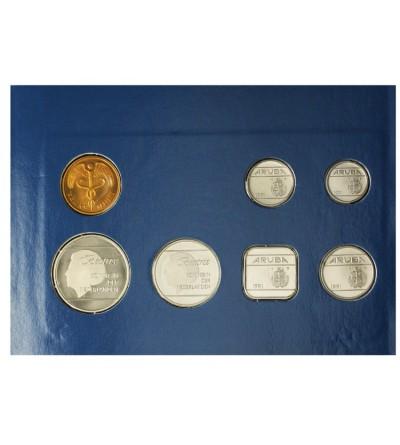 Aruba Zestaw menniczy monet 1991