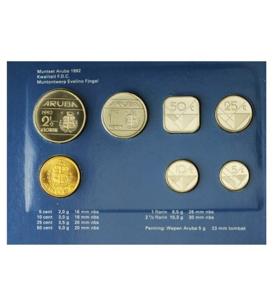 Aruba Zestaw menniczy monet 1992