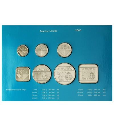 Aruba 2000. Zestaw rocznikowy monet