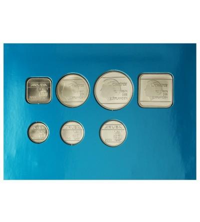 Aruba 2001. Zestaw rocznikowy monet.