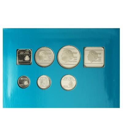 Aruba 2002. Zestaw rocznikowy monet.