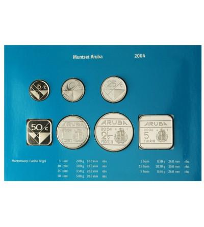 Aruba 2004 Zestaw rocznikowy monet.