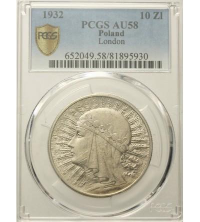 10 złotych 1932, Londyn PCGS AU 58