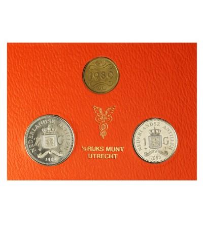 Antyle Holenderskie 1, 2 1/2 guldena 1980.
