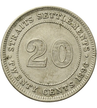 Malaje - Straits Settlements 20 centów 1896