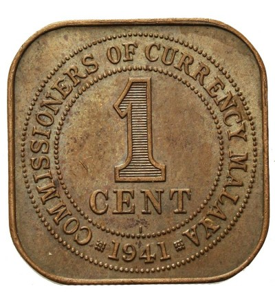 Malaje Brytyjskie 1 cent 1941 I