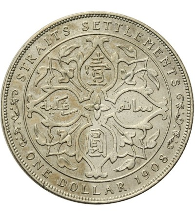 Malaje - Straits Settlements 1 dolar 1908