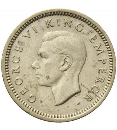 New Zealand 3 Pence 1945