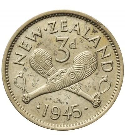 Nowa Zelandia 3 pensy 1945