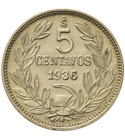 Chile 5 centavos 1936